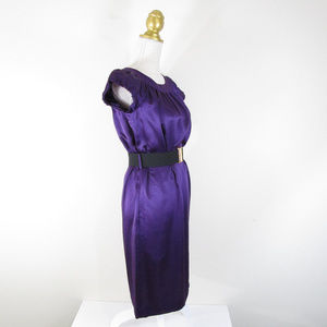 Banana Republic Dresses - Banana Republic Purple Silk Belted Shift Dress NEW